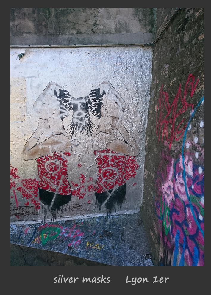 silver masks copie Street Art