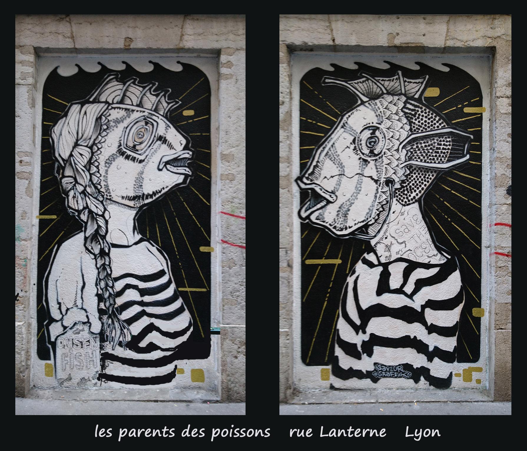 les parents des poissons copie Street Art